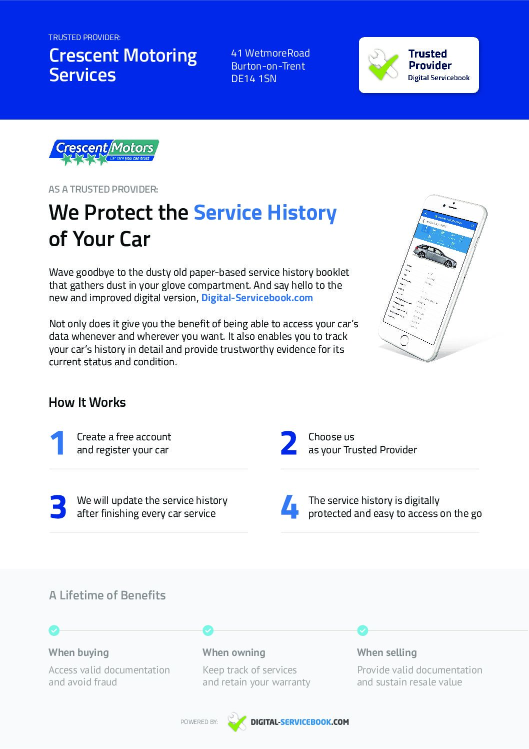 What is a Digital Service History?